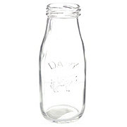 Circle Glass Milk Bottle