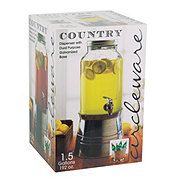Circleware Country Beverage Dispenser With Dual Purpose Galvanized Base