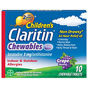 Claritin Children's Allergy, 24 Hour Grape Flavored Chewable Tablets