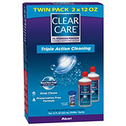 Clear Care Triple Action Cleaning Twin Pack Cleaning and Disinfecting Solution