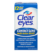 Clear Eyes Contact Lens Muti-Action Relief Eye Drops