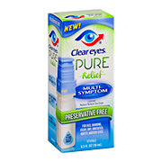 Clear Eyes Pure Relief Multi-Symptom Preservative Free Eye Drops