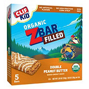Clif Kid Organic Zbar Filled Double Peanut Butter Bars
