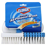 Clorox Multi Purpose Flex Scrub Brush Blue And White