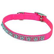 Coastal Pet Products 3/8 Inch X 12 Inch Flamingo Pink Jewel Collar