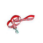 Coastal Pet Products Lazer Brite Red 5/8 Inch Leash with Reflective Paws & Bones