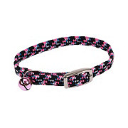 Coastal Pet Products Lil Pals Adjustable Reflective Kitten Collar Neon Pink