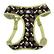 Coastal Pet Products Pet Attire Brown Paws and Bones Designer Wrap Adjustable Harness Size X-Small