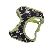 Coastal Pet Products Pet Attire Designer Wrap Adjustable Harness in Brown Paws & Bones Size XX-Small