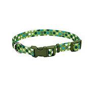 Coastal Pet Products Pet Attire Green Polka Dots 3/8 Inch Adjustable Collar