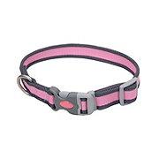 Coastal Pet Products Pet Attire Pink/Gray Pro Collar 5/8 inch X 10-14 inch