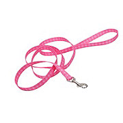 Coastal Pet Products Pet Attire Styles 5/8 Inch Pink Polka Dot Leash