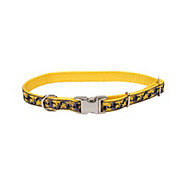 Coastal Pet Products Pet Attire Yellow 5/8 Inch Adjustable Nylon Collar with Buttercup Ribbon