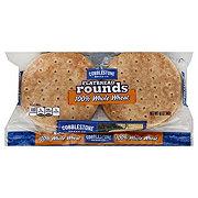 Cobblestone Bread Co. Flatbread Rounds, 100% Whole Wheat