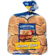 Cobblestone Bread Co. Sesame Twist Hamburger Rolls