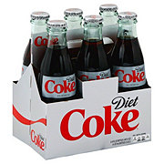 Coca-Cola Diet Coke Glass 8 oz Bottles