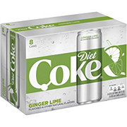 Coca-Cola Ginger Lime Diet Coke 12 oz Cans