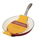 "Cocinaware 10"" Lightweight Cast Iron Fry Pan, Red"