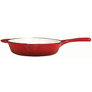 "Cocinaware 10"" Red Enamel Cast Iron Fry Pan"