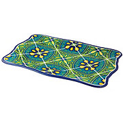 "Cocinaware 17"" Serving Tray, Blue Mexican Tile"