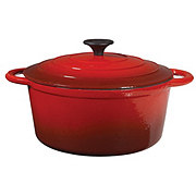 Cocinaware 5.2 QT Red Enamel Cast Iron Dutch Oven