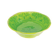 "Cocinaware 7"" Melamine Round Dinner Bowl, Green"