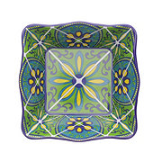 "Cocinaware 7"" Mexican Tile Square Bowl, Blue"