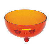 Cocinaware Acrylic Footed Salsa Bowl, Orange