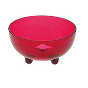 Cocinaware Acrylic Footed Salsa Bowl, Red