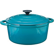 Cocinaware Aqua Enamel Cast Iron Dutch Oven