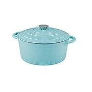 Cocinaware Aqua Enamel Cast Iron Dutch Oven, Limited Edition