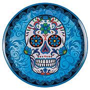 Cocinaware Blue Day Of The Dead Skull Melamine Dinner Plate