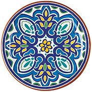 Cocinaware Blue Mosaic Melamine Salad Plate