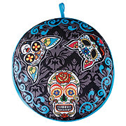 Cocinaware Blue Tortilla Warmer Multi Color Skulls