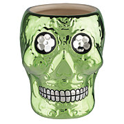 Cocinaware Day Of The Dead Green Metallic 3D Skull Mug