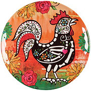 Cocinaware Day Of The Dead Melamine Rooster Side Plate