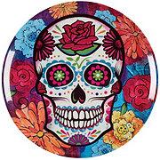 Cocinaware Day Of The Dead Melamine Skull Dinner Plate