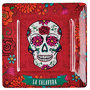 Cocinaware Day Of The Dead Square Candy Skull Plate