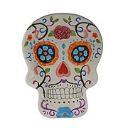 Cocinaware Day Of The Dead White Ceramic Skull Candy Bowl