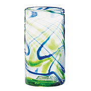 Cocinaware Green & Blue Swirl Mexican Bubble Highball Tumbler