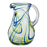 Cocinaware Green & Blue Swirl Mexican Bubble Pitcher