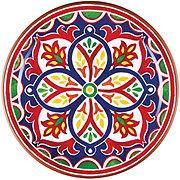 Cocinaware Red Mosaic Melamine Dinner Plate