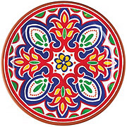 Cocinaware Red Mosaic Melamine Salad Plate
