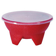 Cocinaware Salsa Bowl With Lid Red