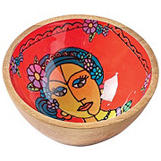 Cocinaware Small Wooden Bowl Lady