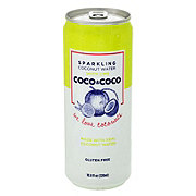 Coco & Coco Sparkling Coconut Water with Lime