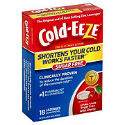 Cold Eeze Cold Remedy Sugar Free Lozenges Wild Cherry