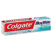 Colgate Max White With Mini-Bright Strips Crystal Mint Toothpaste