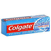 Colgate MaxFresh Fluoride With Mini Breath Strips Whitening Cool Mint Toothpaste