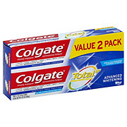 Colgate Total Advanced Whitening Toothpaste, Twin Pack